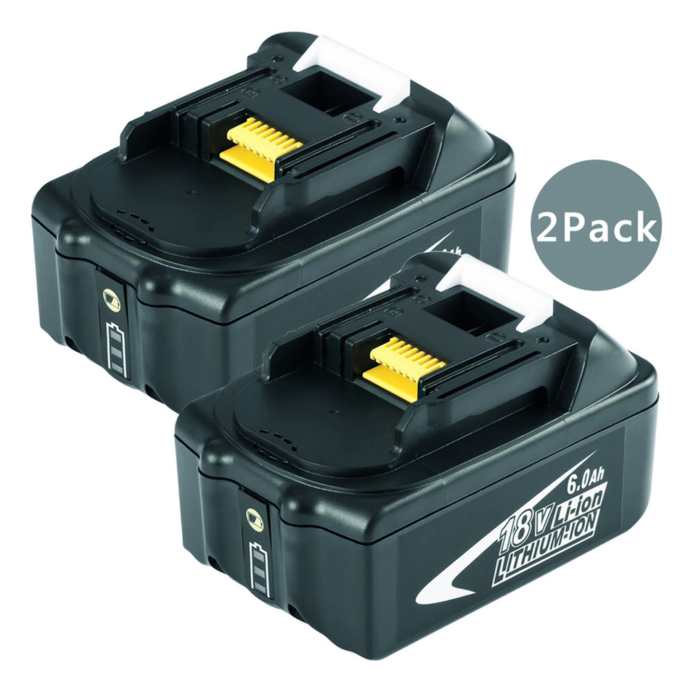 2 pack BL1860 18V 6000mAh Rechargeable Li-ion Battery for Makita Power Tools 194309-1 BL1815 BL1830 BL1840 LXT400 LED Light hot 2x 18v 4 0ah battery for makita bl1840 bl1830 bl1815 lxt lithium ion cordless