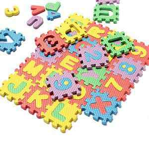 36 ピース/セット子供のパズル Eva フォームマットレター番号パズルのおもちゃ子供の知能のため開発風呂水フローティングおもちゃ