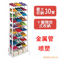 Best Selling High Quality Shoe Rack Shelf Bulk Wholesale Stainless Steel+abs10layers Foldable Easy Assemble Storage Hanger