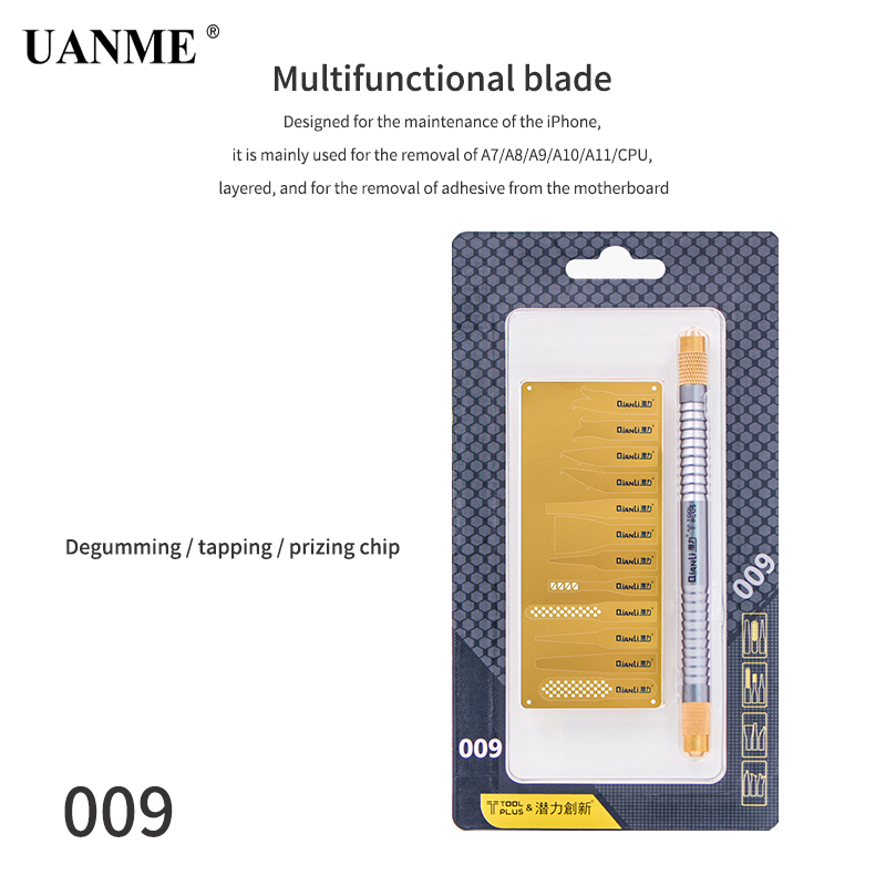 Купить с кэшбэком UANME Repaired knife CPU A7 A8 A9 A10 motherboard Burin To Remove Phone Processors knifes For iPhone IC Chip Repair Thin Blade