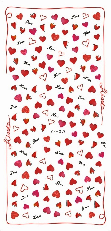 Wasser Aufkleber Nagelaufkleber SÜße Herz Liebe Valentinstag Schmetterling VogelkÄfig Ye270-272