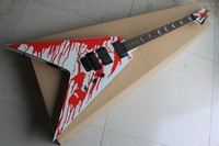 New Arrival ESP LTD Flying V Custom Shop Blood Tears James Hetfield Electric Guitar Floyd Rose