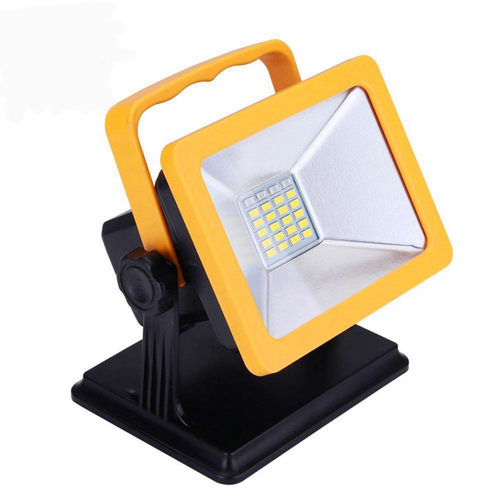 LED Work Light Rechargeable Waterproof Spotlights Outdoor Camping Emergency Lights Floodlights With SOS Mode US Plug Car Charger