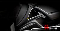 Stainless Chromium Styling Inner Front Door Speaker Covers Trim Interior Car Trims 2pcs For Audi A6 C7 2012 2013 2014 2015