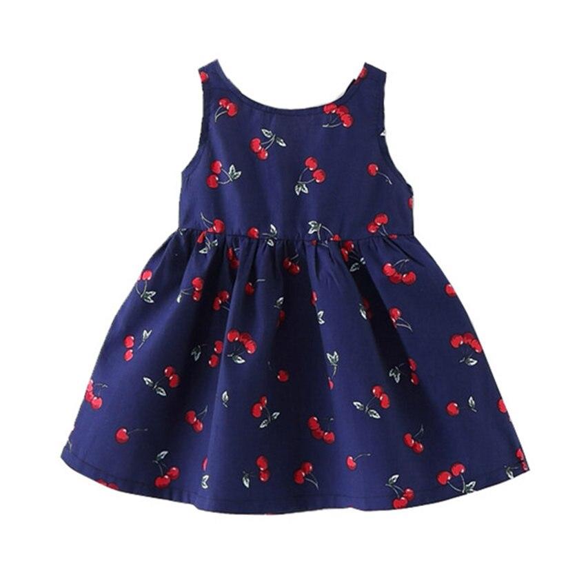 1-8 y κορίτσια καλοκαιρινά φορέματα 2018 αμάνικα μικρά κορίτσια ... c3d7b07fabb