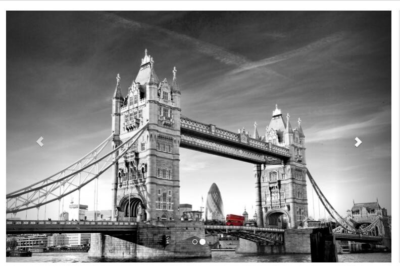 Livraison gratuite noir et blanc tour pont Mural canapé TV fond papier peint