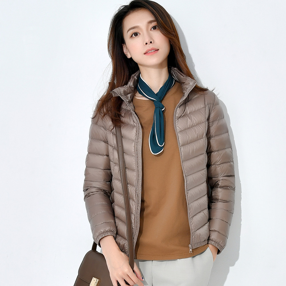 9c6a32185aa Spring Winter Women Ultra Light Down Jacket 9 Color Casual Female Portable  Outwear Duck Feather Coat Jackets Lightweight Parkas-in Down Coats from  Women's ...