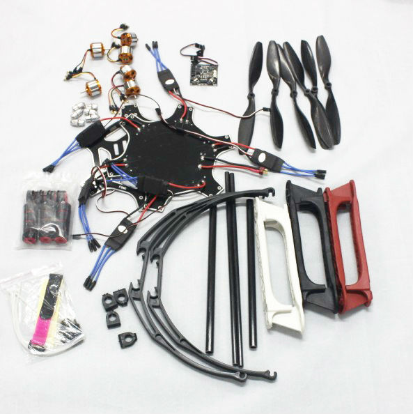 F05114-P F550 Drone FlameWheel Kit With KK 2.3 ESC Motor Carbon Fiber Propellers +Tall Landing Skid PTZ Aerial FPV f06586 c diy rc quadcopter fpv kit nylon flamewheel carbon tall landing skid kk v2 9 controller motor esc