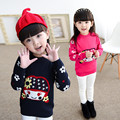 Cute Knitted Cartoon Sweater 2016 Pulls Pour Filles Spring Autumn Sweaters And Knitted Kids Pullovers Clothes For Girls 70J041