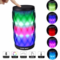 Bluetooth Speakers Wireless LED Touch Control Colorful Night Light Built In Mic AUX And Hands Free