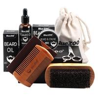 Scissor Men Use Beard Care Set Oil Professional Mustache Trim Comb