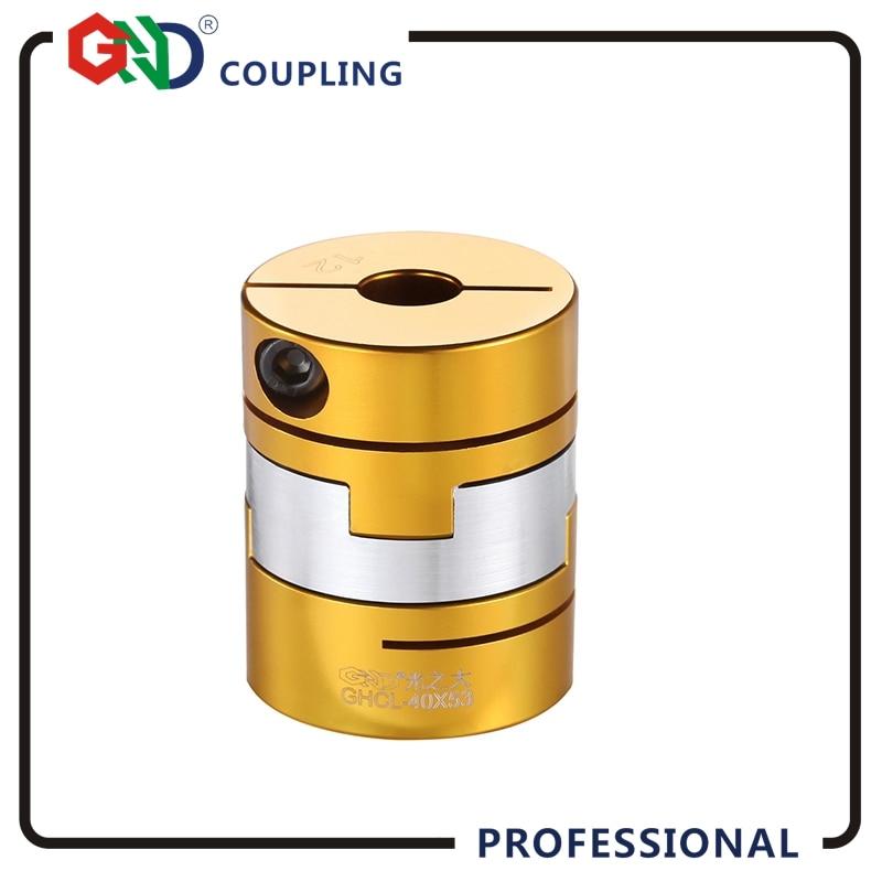 все цены на Flexible coupling GHCL aluminum Oldham clamp series slide shaft coupler 8mm for servo stepper motor clutch онлайн