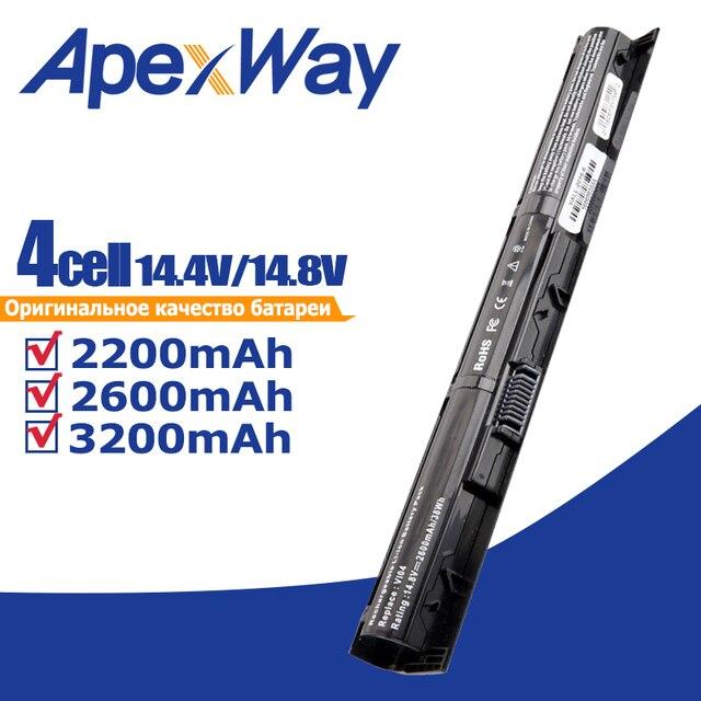 ApexWay 4 cep dizüstü HP için batarya ProBook 440/450 G2 serisi 756745 001 756744 001 756478 421 756743 001