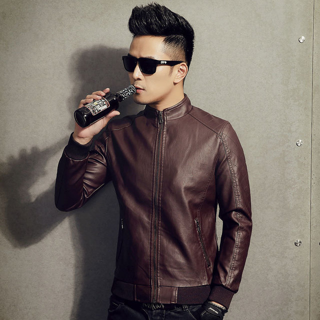 53a0a638dcc 2017 New Arrival Men Mens Classic Leather Jacket Leisure Plus Size And  Comfortable Short Leather Jacket