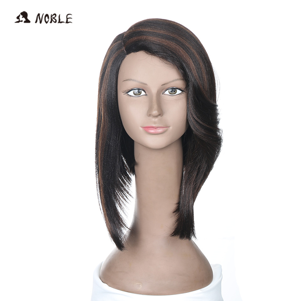 Noble Hair Synthetic Lace Wigs 14 Inch African American Wig for Black Women 10 Color Straight Hair Free Shipping ...