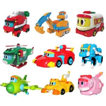 Mới nhất ABS Min Biến Dạng Gogo Khủng Long Con Số Hành Động REX Chuyển Đổi Xe Máy Bay Xuồng Máy Cần Cẩu Khủng Long đồ chơi cho Trẻ Em