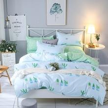Bedding Set Modern style plants twin full queen king 4/3pcs Duvet Cover Sets Soft Polyester Bed Linen Bed Sheet Set Pillowcase