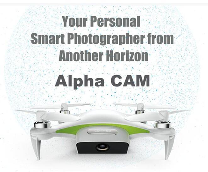 2017 alpha cam wifi fpv mini flexible selfie cámara gps rc quadcopter drone con