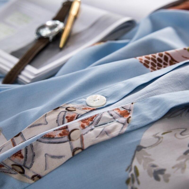 100% постельное белье из египетского хлопка; комплекты одежды с изображением совы и постельного белья (простынь, наволочки для подушек и Стёг... - 3