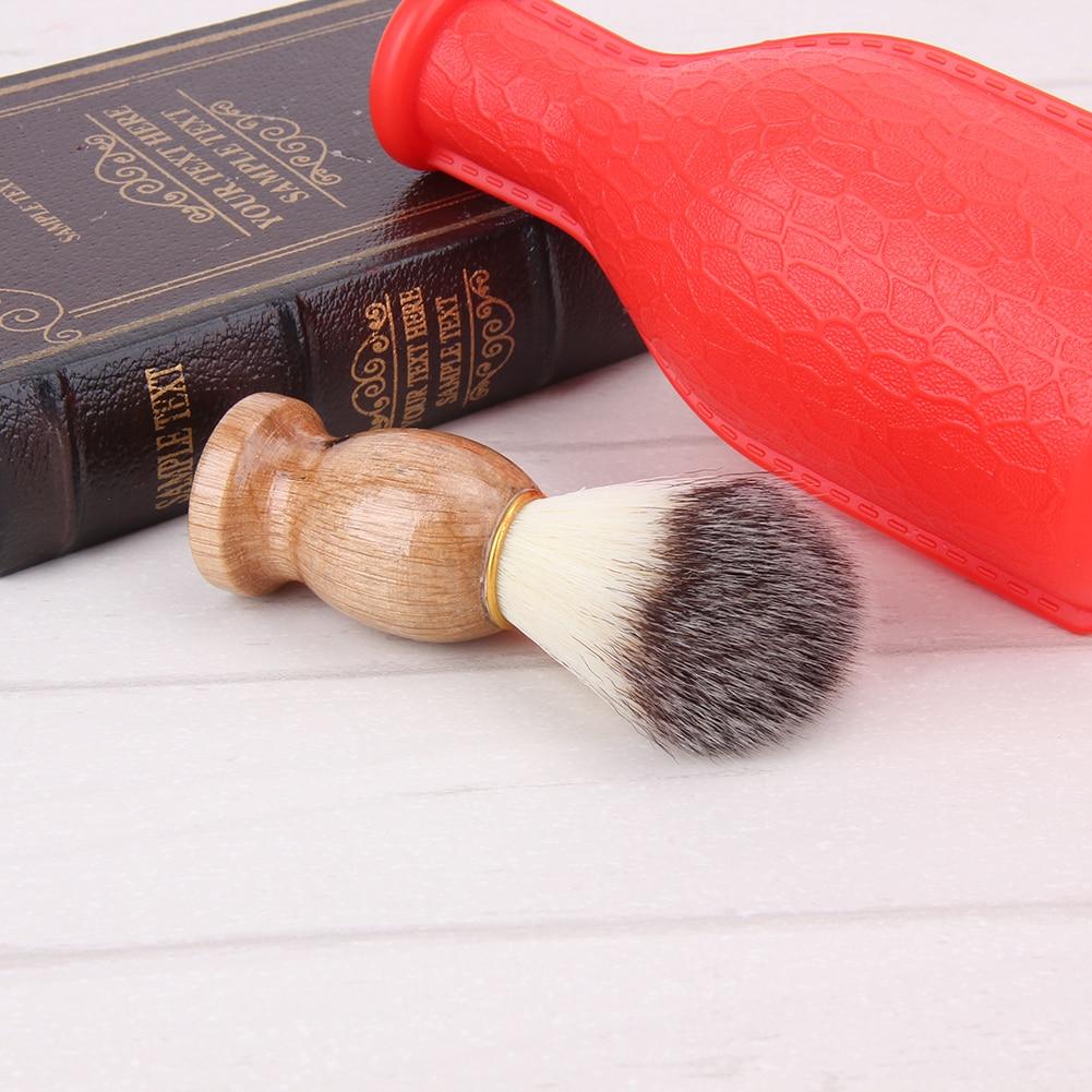 Badger Hair Men's Shaving Brush Barber Salon Men Facial Beard Cleaning Appliance Shave Tool Razor Brush with Wood Handle for men 2