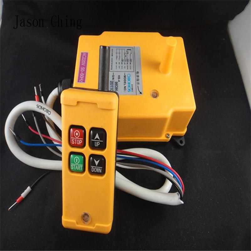 1pcs HS-4 AC110V 4 Channels Control Hoist Crane Radio Remote Control Sysem Industrial Remote Control1pcs HS-4 AC110V 4 Channels Control Hoist Crane Radio Remote Control Sysem Industrial Remote Control
