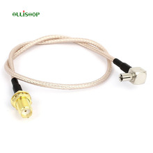 все цены на ALLiSHOP 0-6GHz Pigtail adapter cable SMA-female socket jack to ts9 RG316 connector for USB surfsticks  UMTS and LTE wifi router онлайн