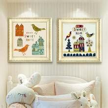 HAOCHU Nordic Canvas Art Print Decorative Modern Cartoon Warm Home Background Childrens Room Hanging Painting Wall Poster Mural