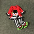 Free Shipping 3 Sets/lot NEW Arrival 3T Rare editions  girls Christmas sownman suit children holiday outfits