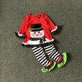 O Envio gratuito de 3 Jogos/lote NOVA Chegada 3 T sownman edições Raras meninas Natal terno crianças roupas de férias