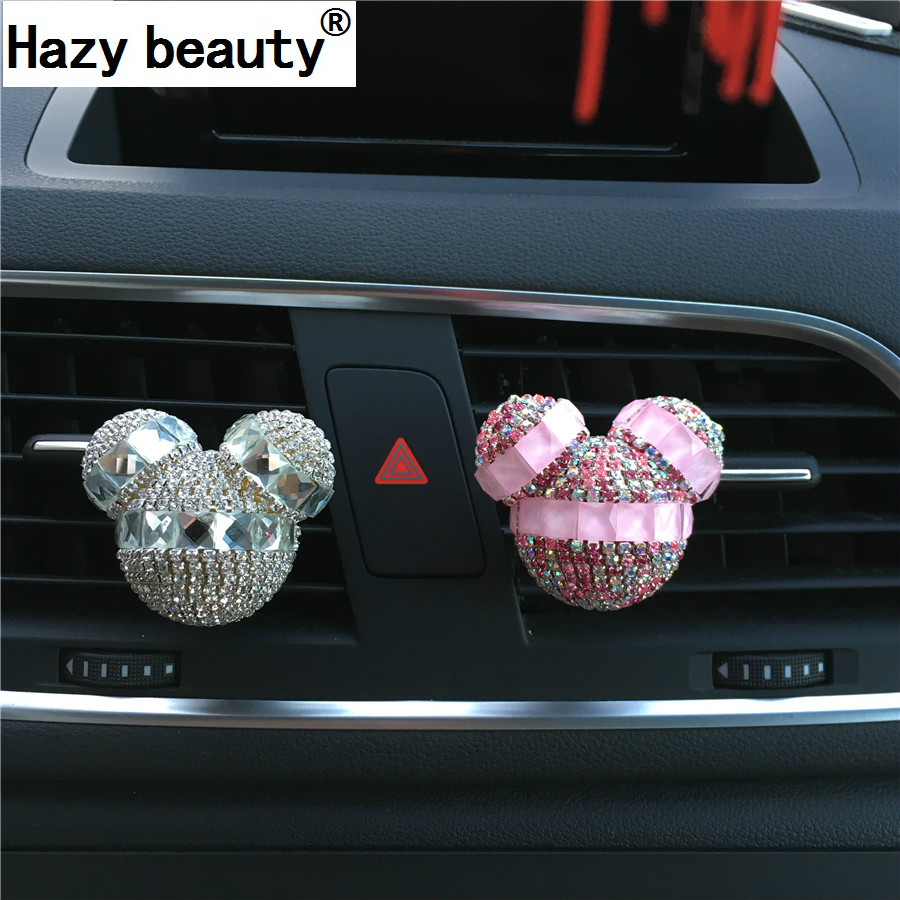 Hazy beauty Car Air Conditioning Outlet Decorazione auto Aromaterapia Diamante Car Styling Profumi 100 originale