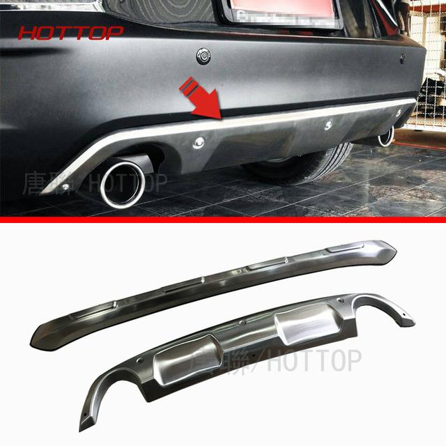 Para Mazda CX-3 2015 2016 Frente + Trás bumper skid plate guarda protetor de aço Inoxidável 2 pcs