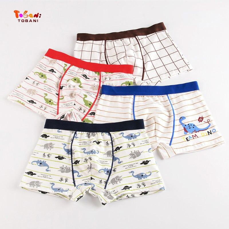4 pieces/lot Children's underwear boy's cotton flat horn underwear big boy's four-angle underwear shorts Tobani 1