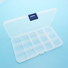 Electronic Plastic boxes Case 15 Slots Plastic Storage Box Case Home Organizer Earring Jewelry Container Tool Box(China)