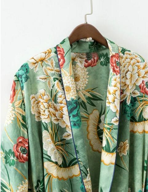 HTB15rIKPVXXXXbVaXXXq6xXFXXX2 - Ethnic Flower Print with sashes Kimono Shirt Retro Tops blusas