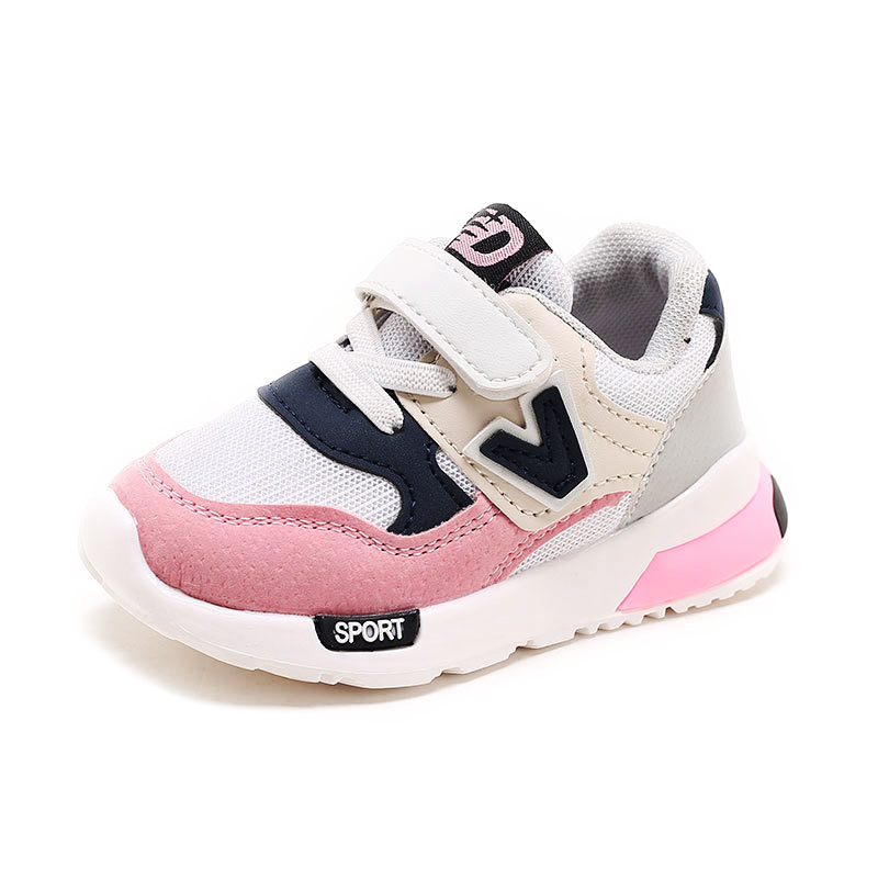 2018 Fashion Hot Sale Kids Shoes For Boys Girls Unisex Toddler Sports Shoes Children Casual Sneakers Soft Air Mesh V-letter New