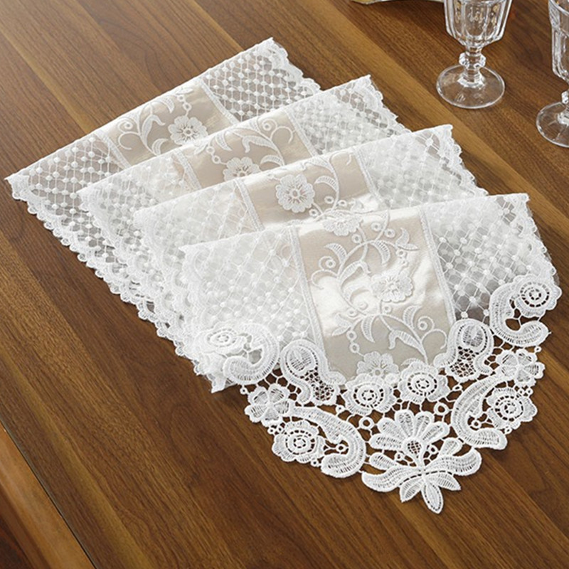 Elegant Tableware For Dining Rooms With Style: Aliexpress.com : Buy White Champagne Embroidery Table