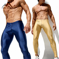 New 2016 Men's Sexy Tight Pants Fashion Casual Slim Fitted Sweatpants Elastic Active Crossfit Pro Workout Pants for Men 2AQ15