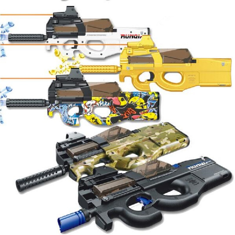 P90 electric car toy gun graffiti version Live CS assault sniper gun weapon water gun explosion gun fun entertainment outdoor