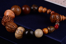 Fashion jewelry vintage natural 18 bodhi seed bracelet MALA bangles Buddha charm bracelet Tibet Buddhist prayer wood beads