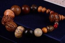 Moda takı vintage doğal 18 bodhi tohum bilezik MALA bilezik Buda charm bilezik Tibet Budist namaz ahşap boncuklar