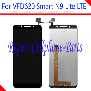 Image 1 - 5.3 cal nowy czarny pełna wyświetlacz LCD + ekran dotykowy digitizer zgromadzenie dla Vodafone VFD620 inteligentny N9 Lite LTE VFD 620 darmowa wysyłka