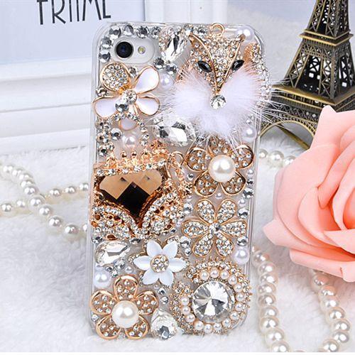 Luxus Bling Diamond Crystal Hard Case Abdeckung für iPhone 4 / 4S / - Handy-Zubehör und Ersatzteile