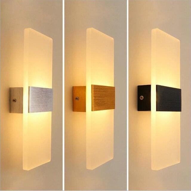אקריליק מנורת קיר פשוט סגנון אורות מיטת סלון מלון מסדרון מעבר LED קיר אורות AC110V 220V גופי תאורה