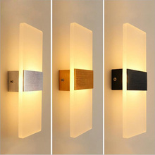 Acrylic Dán Tường Đèn Đơn Giản Phong Cách Đầu Giường Đèn Phòng Khách Hành Lang Khách Sạn Lối Đi Đèn LED Dán Tường AC110V 220V Thiết Bị Chiếu Sáng