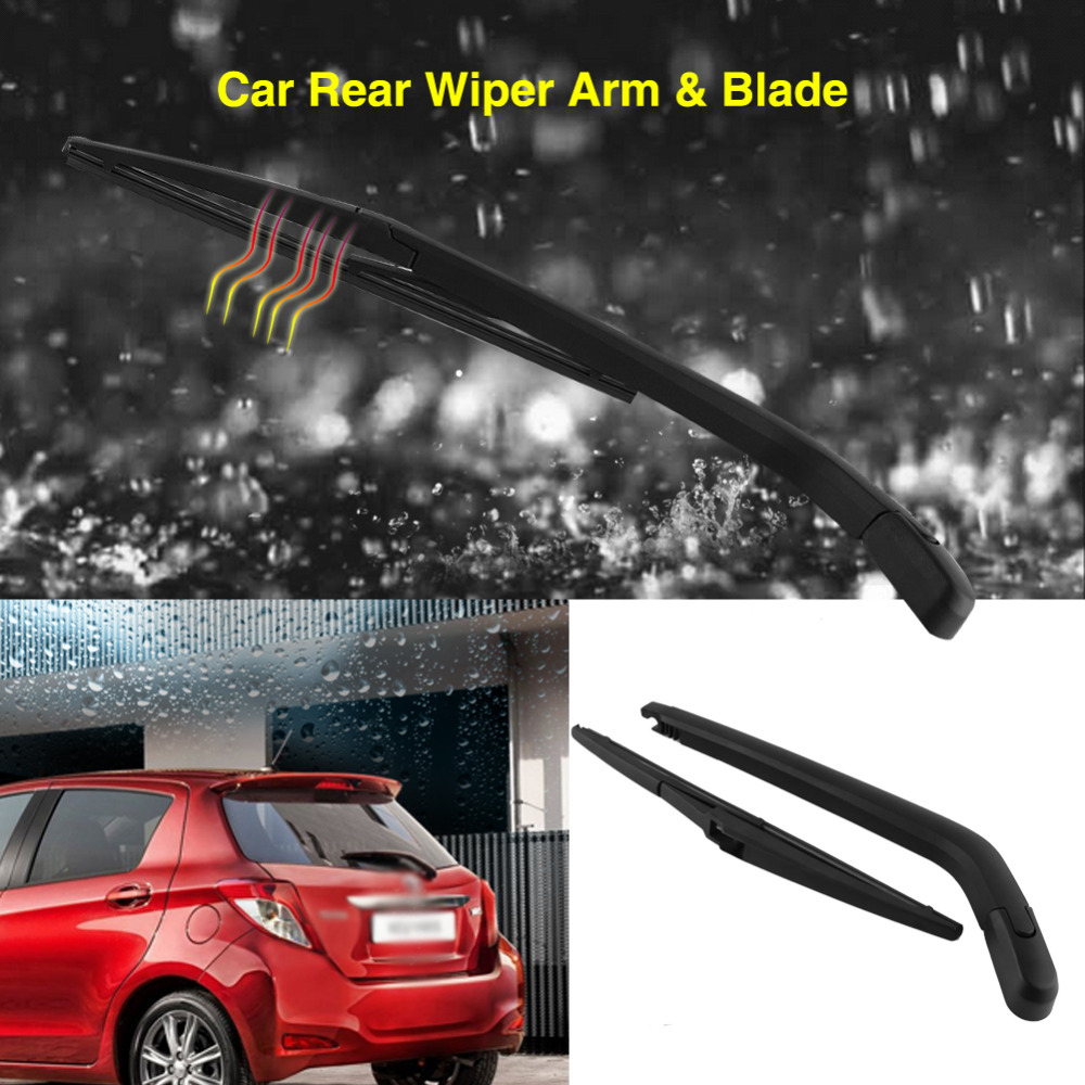 Car Rear Window Windshield Windscreen Wiper Arm and Blade Complete Replacement Set for Toyota Yaris 1995-2005
