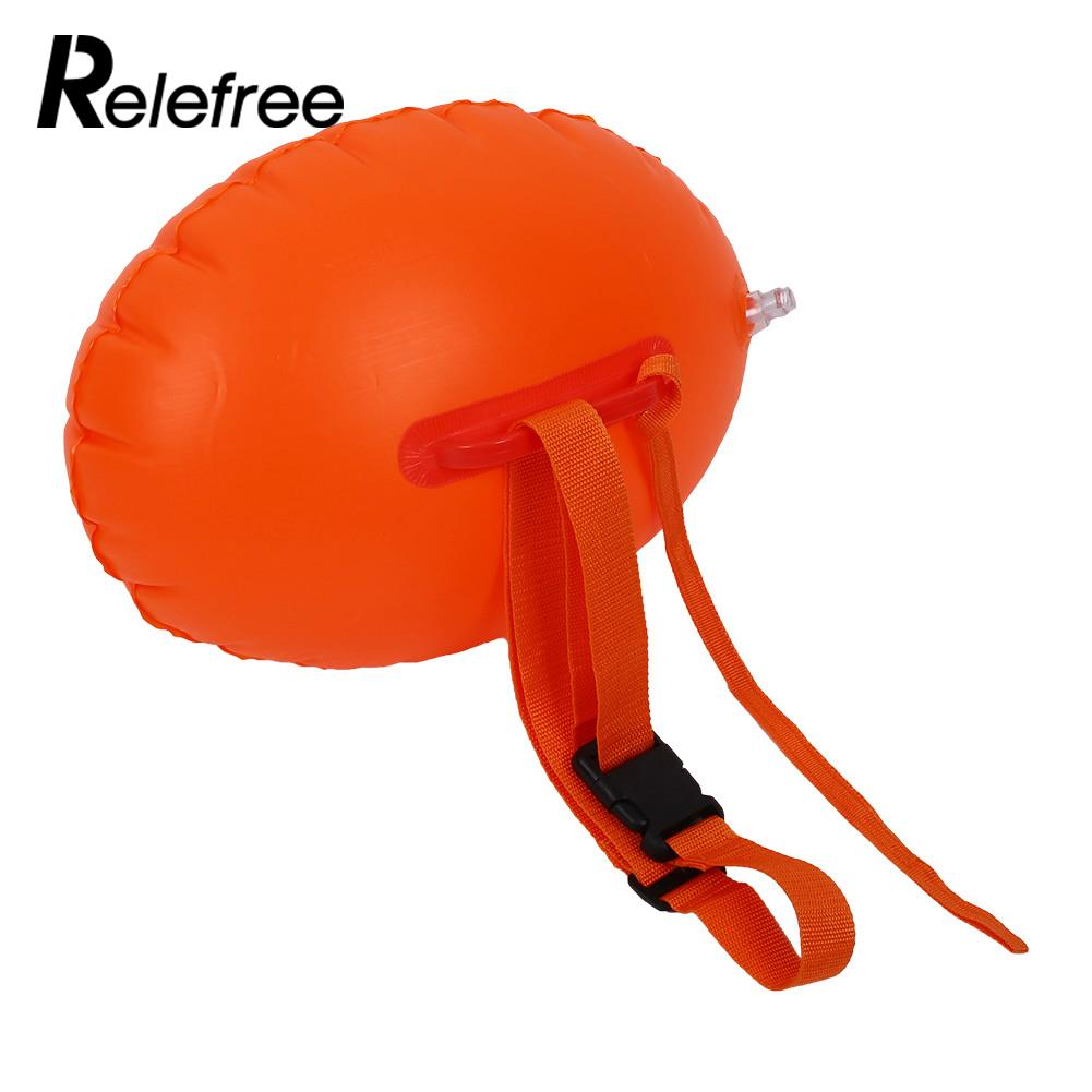 relefree Safety Swimming PVC Inflatable Float Buoy Thicken Device Air bag Life Buoy Flotation Ball For Swim Pool Open Water Sea orange inflatable airbag swimming upset buoy outdoor safety swim device upset inflated flotation pool open water sea lifesaving