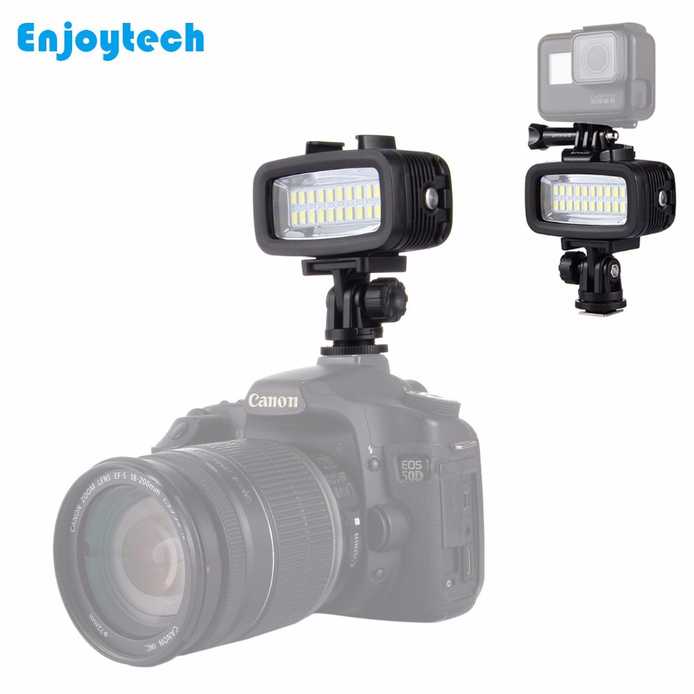 Luz de relleno de buceo Flash LED a prueba de agua para Gopro Canon Sony SLR cámaras luz subacuática Panel de luz LED lámpara de iluminación-in Kit de iluminación fotográfica from Productos electrónicos    1