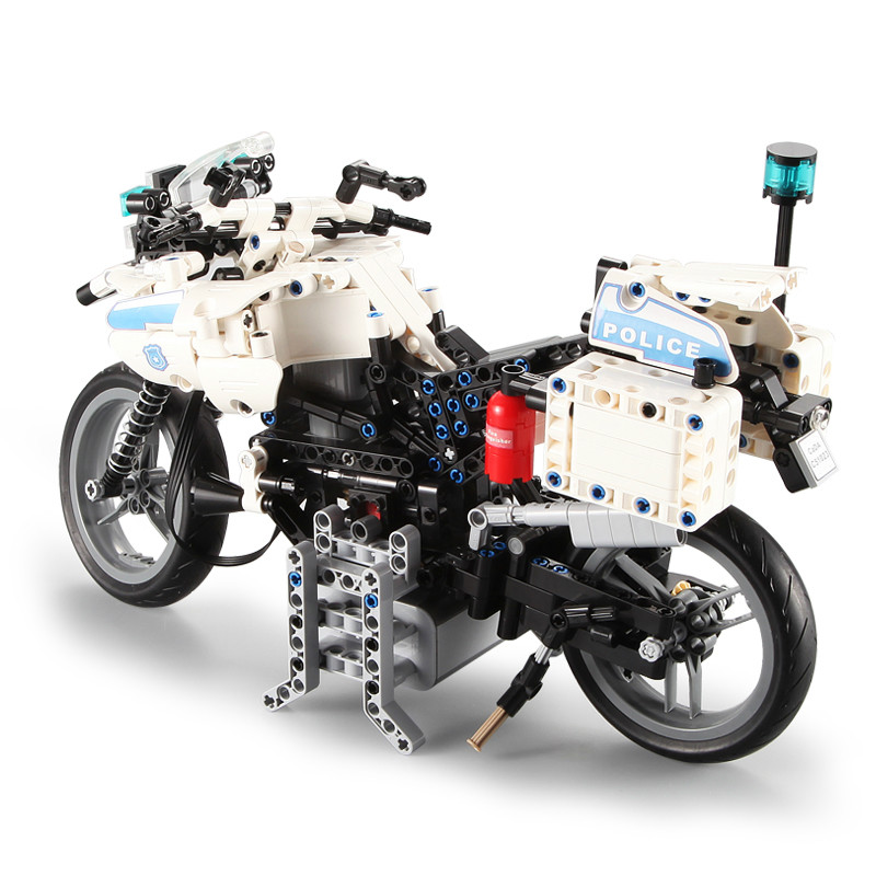 DIY Technic Police Motorcycle City Electric Motor Power Function Car Building Block Toys for Kids Gift Compatible with LegoinglyDIY Technic Police Motorcycle City Electric Motor Power Function Car Building Block Toys for Kids Gift Compatible with Legoingly
