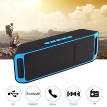 bluetooth speaker portable outdoor audio double horn Bass Sound Subwoofer support TF/UDisk Multifunction wireless speakers