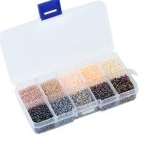 Одна коробка, 10 цветов, смешанные 2 мм чешские стеклянные бусины, Австрийские хрустальные бусины с круглым отверстием, бусины для детей, сдел...